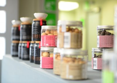 Snacks Messestand Gourmet Products